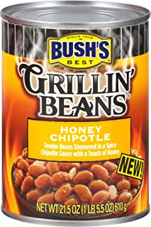 BUSH'S BEST Honey Chipotle Grillin' Beans, 21.5 Ounce Can (Pack of 12)