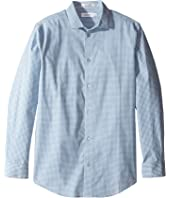 Calvin Klein Kids - Long Sleeve Gingham Shirt (Big Kids)