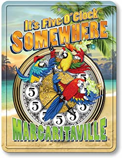Rico Industries Margaritaville 8-Inch by 11-Inch Metal Parking Sign Décor