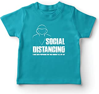 lepni.me Kids T-Shirt Social Distancing Self Quarantine and Chill Introvert Gift
