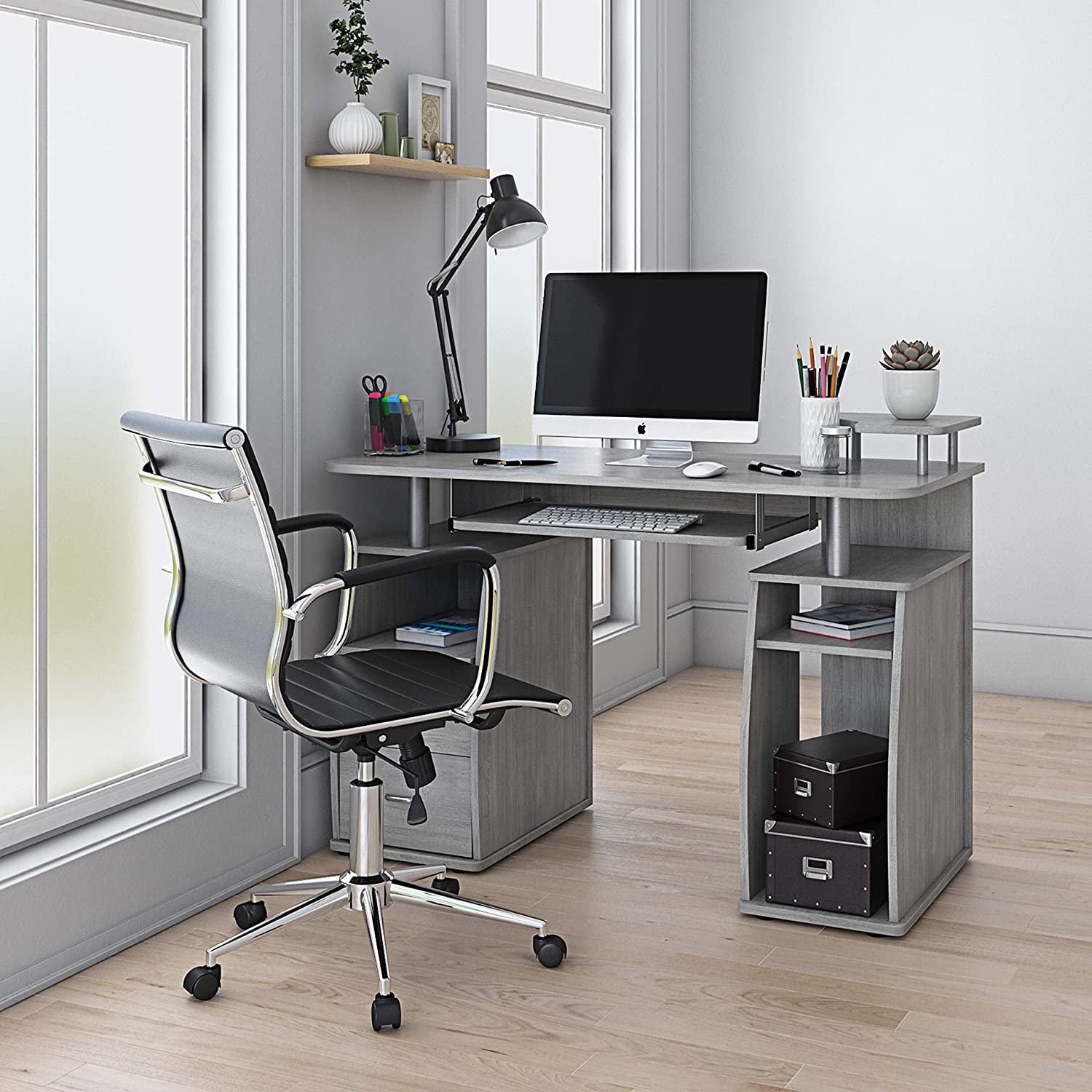 Techni Mobili Floating Modern Max 86% OFF Office Complete Wo Computer Desk 4 years warranty