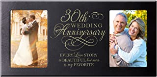 LifeSong Milestones Every Love Story is Beautiful but Ours is My Favorite Anniversary Picture Frame Gift for Couple,30th for Her,30th Wedding for Him Frame Holds 2-4x6 Photos (Black)