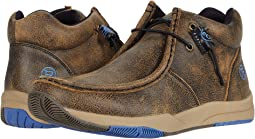 Dark Brown Distressed Leather Upper