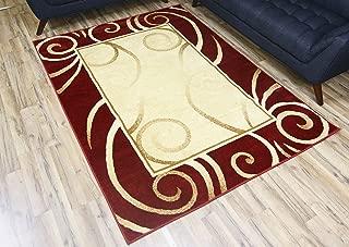 Best area rug burgundy Reviews