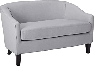 Christopher Knight Home Isolde Modern Petite Loveseat Leather (Light Grey Fabric)