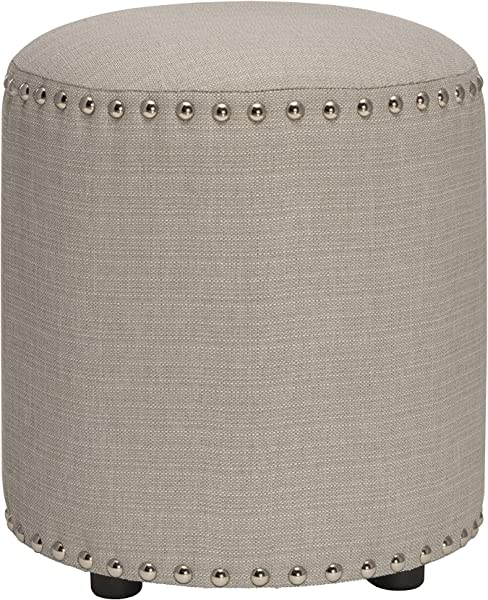 Hillsdale Furniture 50993 Laura Backless Vanity Stool Gray Fabric