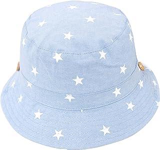 Bebé Niños Sombrero de Sol Algodón Sombrero de Playa Verano Primavera UV Protección Gorro Estrella Motivo, Circunferencia ...