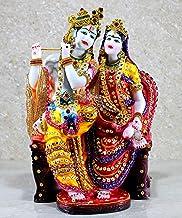 "eSplanade Radha Krishna on Chair Kishan Murti Idol Statue Sculpture (12"")"