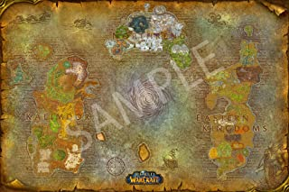 Best Print Store - World of Warcraft Map of Azeroth Poster (24x36 inches)