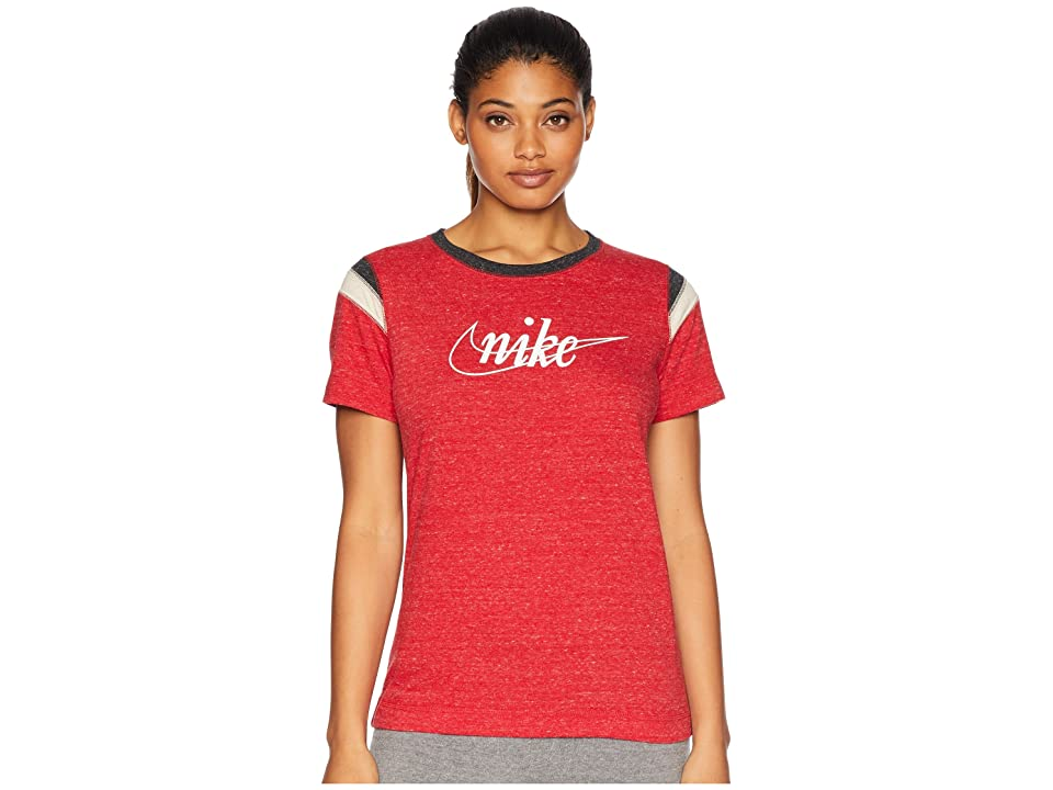 Nike Gym Vintage Short Sleeve HBR (Gym Red/Sail) Women