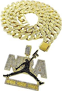 Exo Jewel CZ Diamond Youngboy Never Broke Again NBA Pendant Necklace