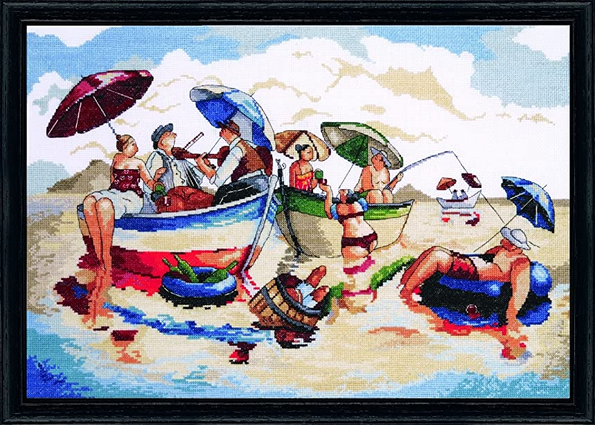 Design Works Crafts Tobin 0724-00-23 Water Lunch Counted Cross Stitch Kit-14