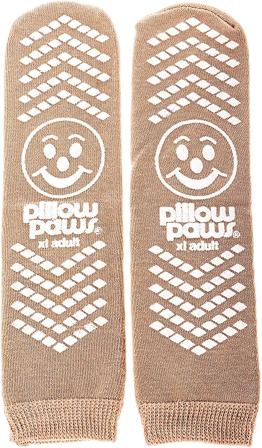 Pillow Paws XL Non Skid Slip Stop Terries (12 Pairs) (Extra, Beige, Size X-Large