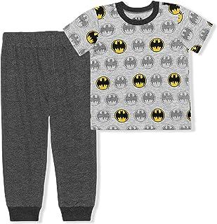 BATMAN 2 Pack Jogger Set for Boys Graphic Printed Short Sleeve Shirt and Sports Pants