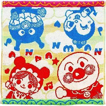 楠橋紋織(Kusubashi Mon Ori) ハンドタオル ミックスカラー 約34×34cm アンパンマン 虹の空 ジャガード ゲストタオル A-84691-51-Y