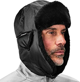 Ergodyne N-Ferno 6802 Thermal Winter Trapper Hat, Black, Large/X-Large