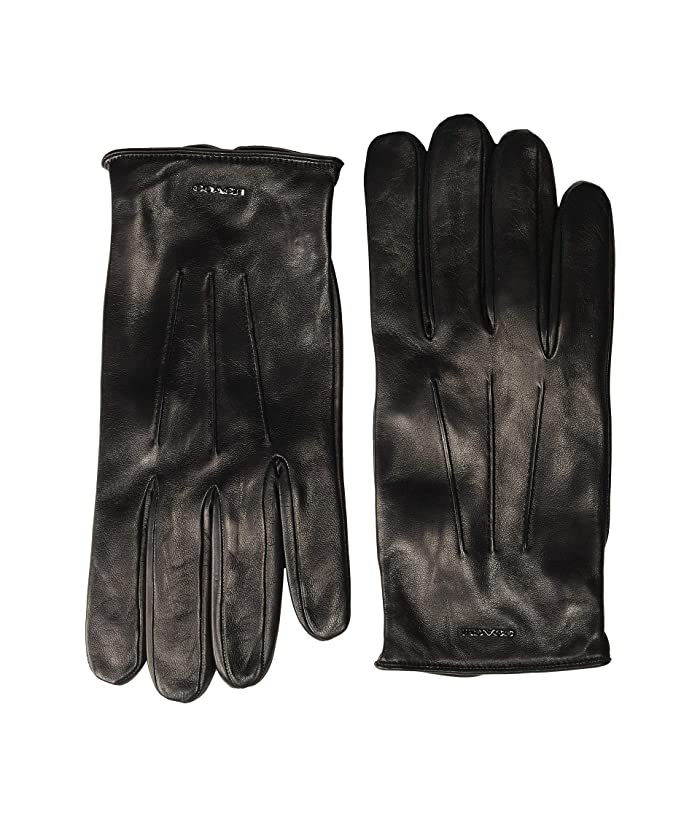COACH  Tech Napa Gloves (Black) Gore-Tex Gloves