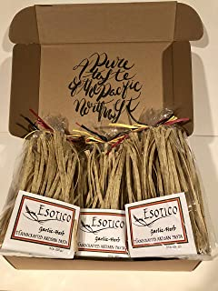 Bear Claw Organics, Fresh Handmade Herb Garlic Pasta. Authentic, Gourmet Italian Pasta - Artisan, Fresh Pasta Made in the USA - All Natural, Pack of 3, 8 ounce Each Handcrafted Herb Garlic Pasta