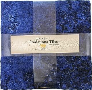 Stonehenge Gradations Brights Indigo Stone Tiles 42 10-inch Squares Layer Cake Northcott
