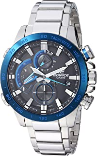 Casio Men's Edifice Connected Quartz Sport Watch with Stainless-Steel Strap, Silver, 14 (Model: EQB-800DB-1ACF