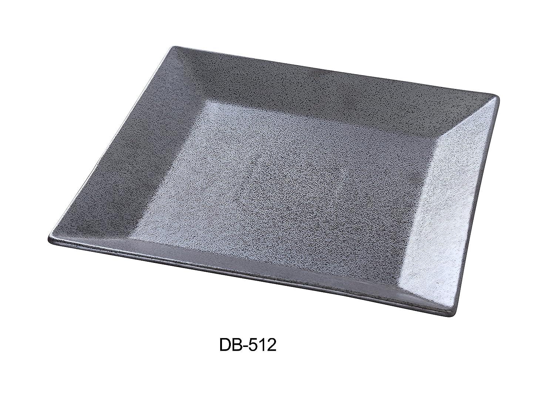 Max 73% OFF Yanco DB-512 Diamond Black Collection Square Ranking TOP4 Plate 12