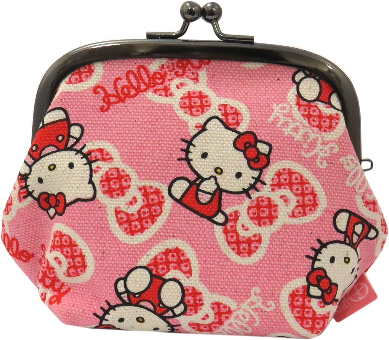 Hello Kitty Goshiki Hanpudo Gamaguchi Max 89% OFF Coin Purse High quality Ribbon D Wallet