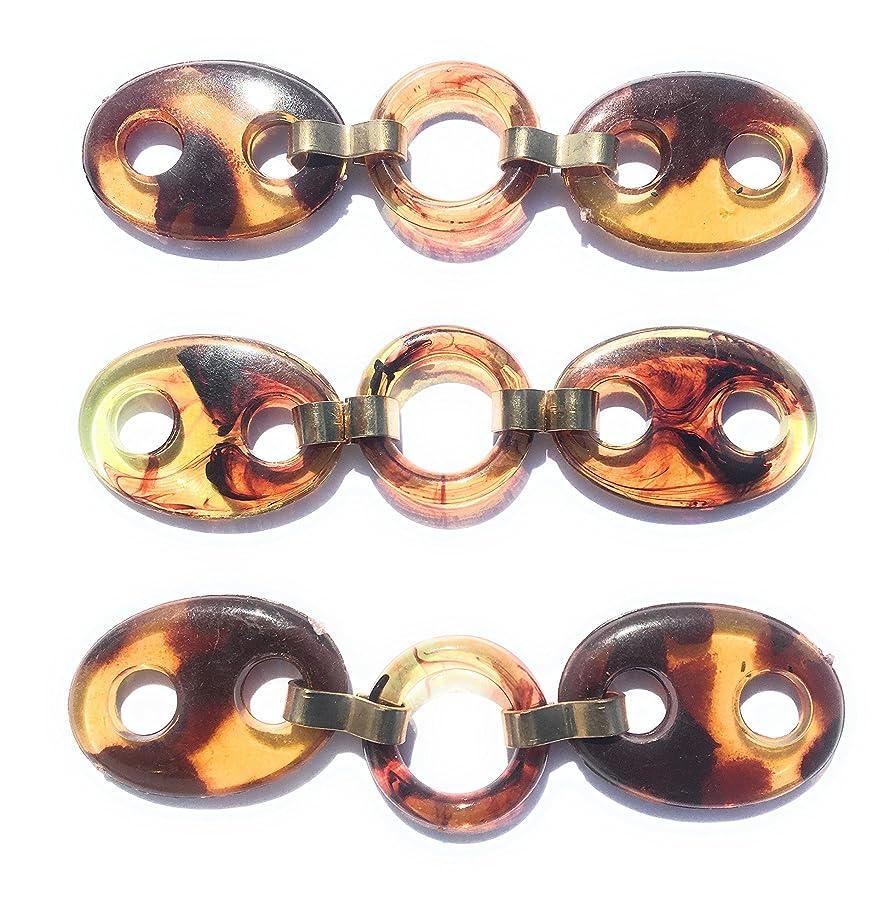 3 Faux Turbo Shell Gold Embellishment, Shoe Ornament, Dress, Pocket Ornament, Bikini Connectors, Swimwear Connectors
