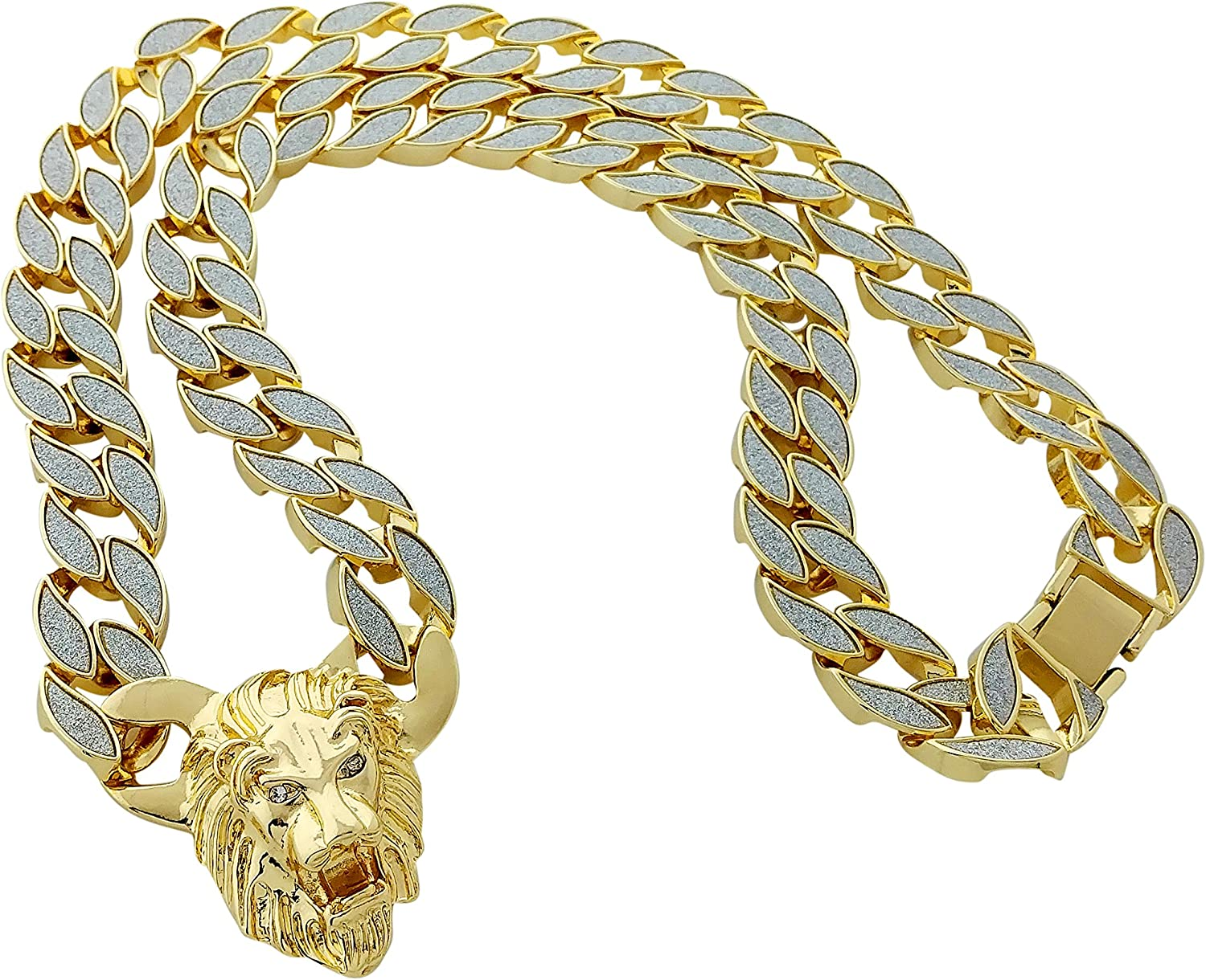 Exo Jewel Thick Miami Cuban Cheap SALE Start Link Chain Max 85% OFF Necklace with Pendant 30