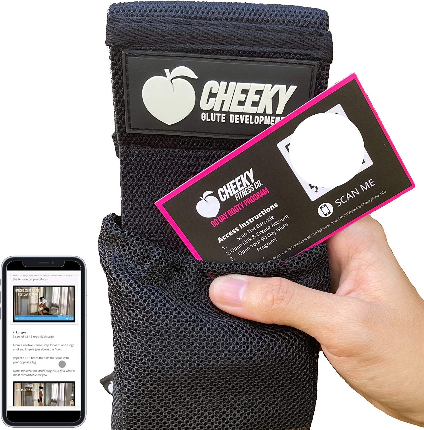 The Cheeky Booty price New sales Band - Non with Slip Circle Heavy Glute Fabric