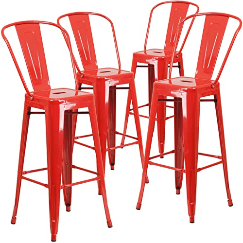 Miraculous Red Stools Amazon Com Cjindustries Chair Design For Home Cjindustriesco