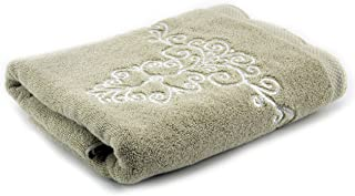 Lenox Embroidered Bath Towel, French Perle