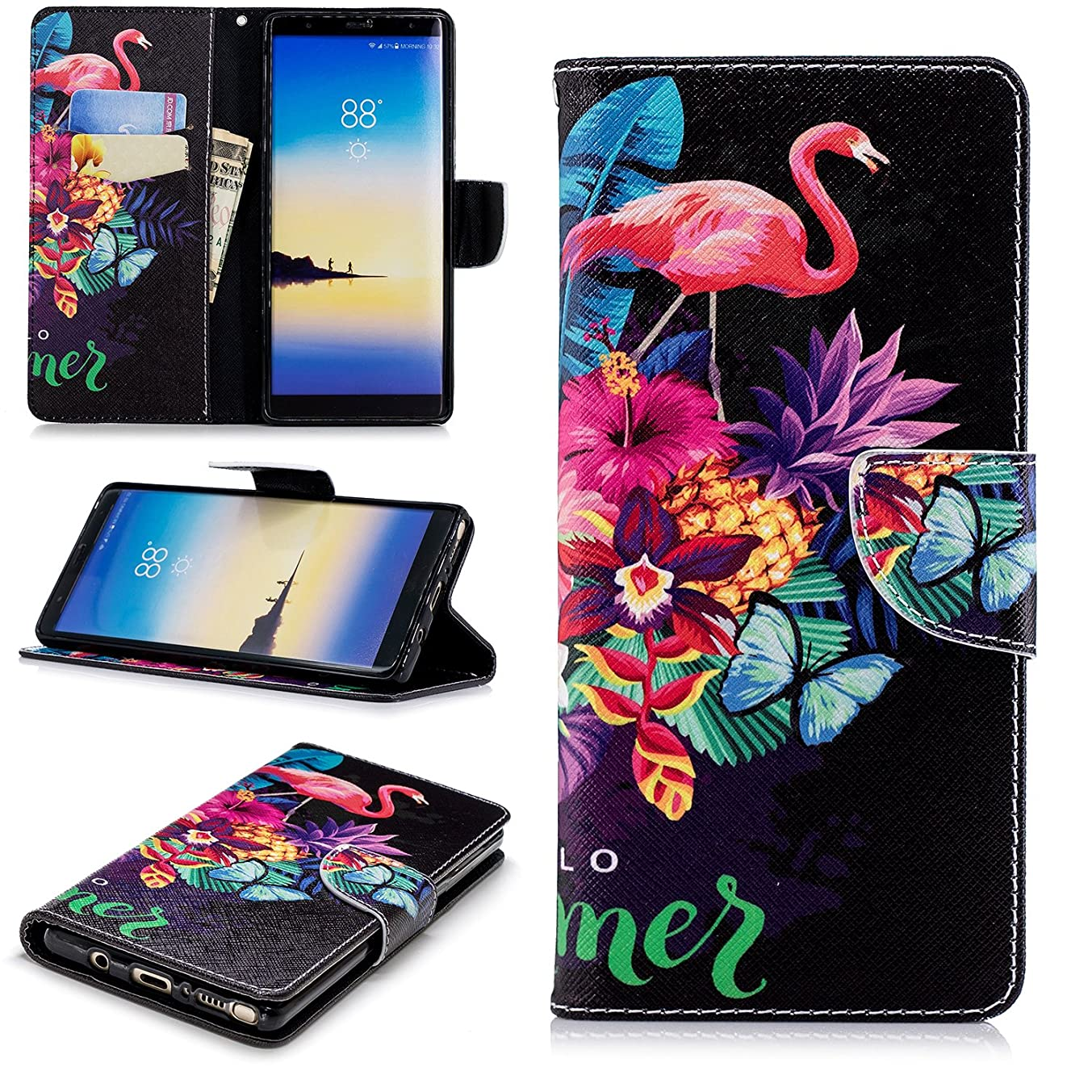 Galaxy Note 8 Wallet Case, Galaxy Note 8 Case, Dooge [Kickstand Feature] Premium PU Leather Folio Flip Protective Case with Cash Card Slots Holder/Magnetic Closure for Samsung Galaxy Note 8