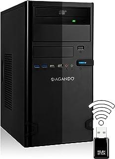 AGANDO Silent Allround & Multimedia PC - Ordenador de sobremesa (Intel Core i5 7500, 4 x 3,4GHz, Turbo 3,8 GHz, GeForce GTX750 Ti, 2 GB, 8 GB de RAM OC, disco duro de 1000 GB, DVD-RW, USB 3.1, WLAN)