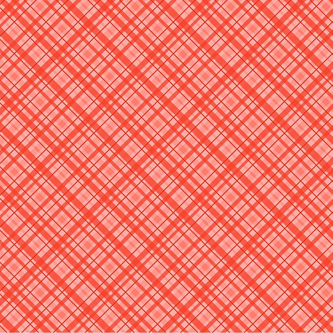 American Crafts Core'dinations 12 Pack of 12 x 12 Inch Patterned Paper Orange Plaid,
