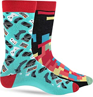 Fun Socks for Men - Cool Novelty Design Gifts for Dad, Son, Husband - Breathable, Reinforced Heel and Toe - 1 or 2 Pack
