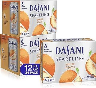 DASANI Sparkling Water White Peach Zero Calories, 12 fl oz, 24 Pack