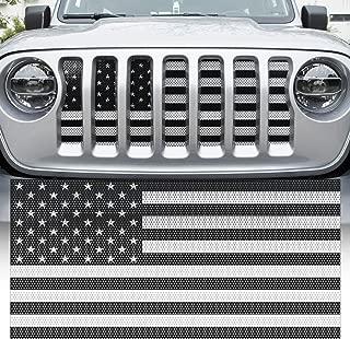 Yoursme Front Grille Grid Grill Screen Insert American Flag Design Black for Jeep wrangler JL 2018 2019