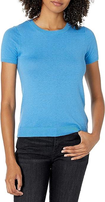The Drop Women's Daryl Short Sleeve Tiny T-Shirt Crew Neck Sweater