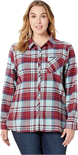 Plus Size Simply Put™ II Flannel Shirt
