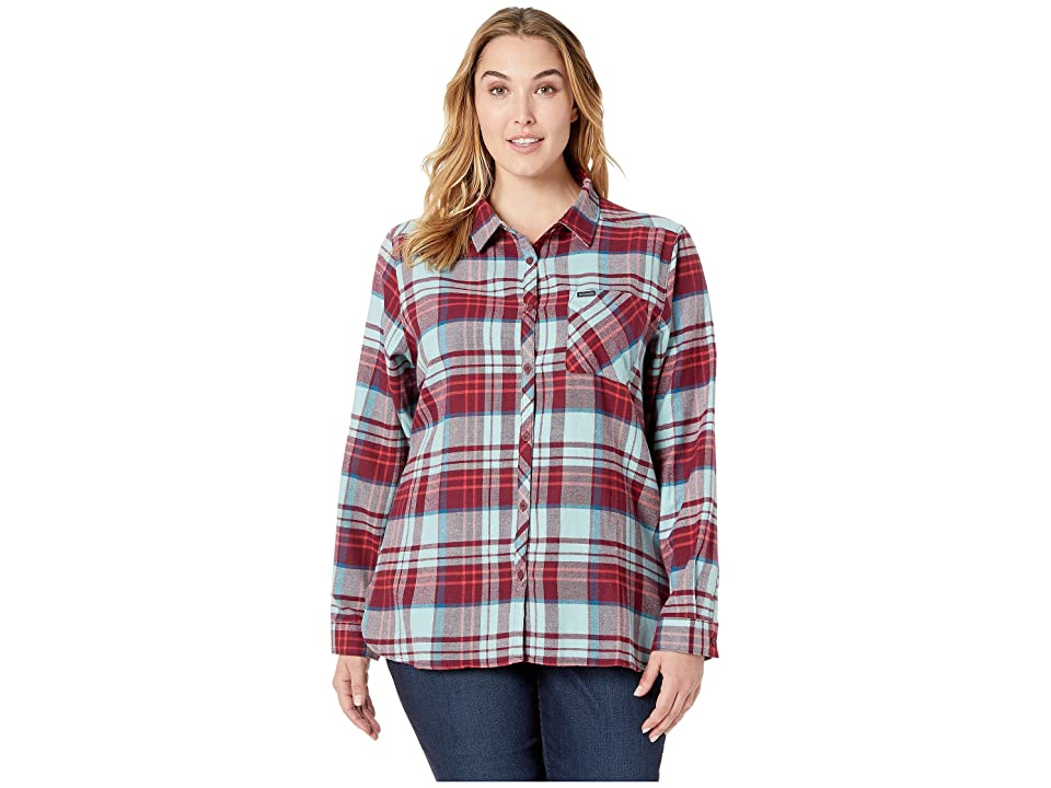 Columbia Plus Size Simply Puttm II Flannel Shirt (Rich Wine Plaid) Women
