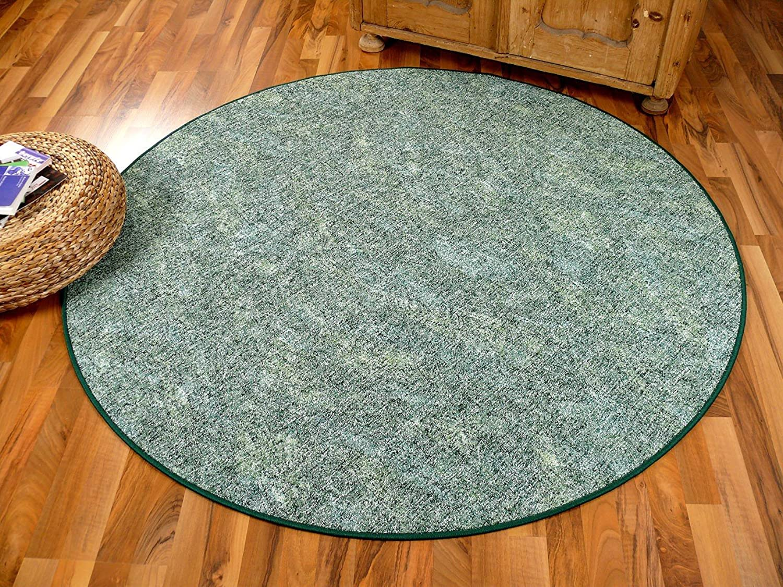 Schlingen Teppich Memory Grün Meliert Rund in 7 Größen B00BPU7V9W