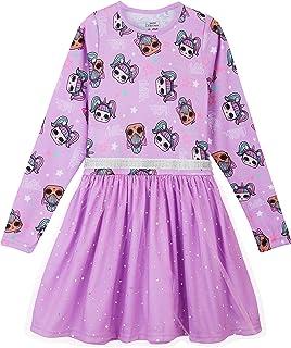 L O L Surprise! Vestido para Niñas, Falda de Tul Tutú de Ballet Brillante en 3D, Vestido de Manga Larga Princesa, Diseño K...