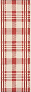 Safavieh Courtyard Collection CY6201-238 Red and Bone Indoor/ Outdoor Runner (2'3