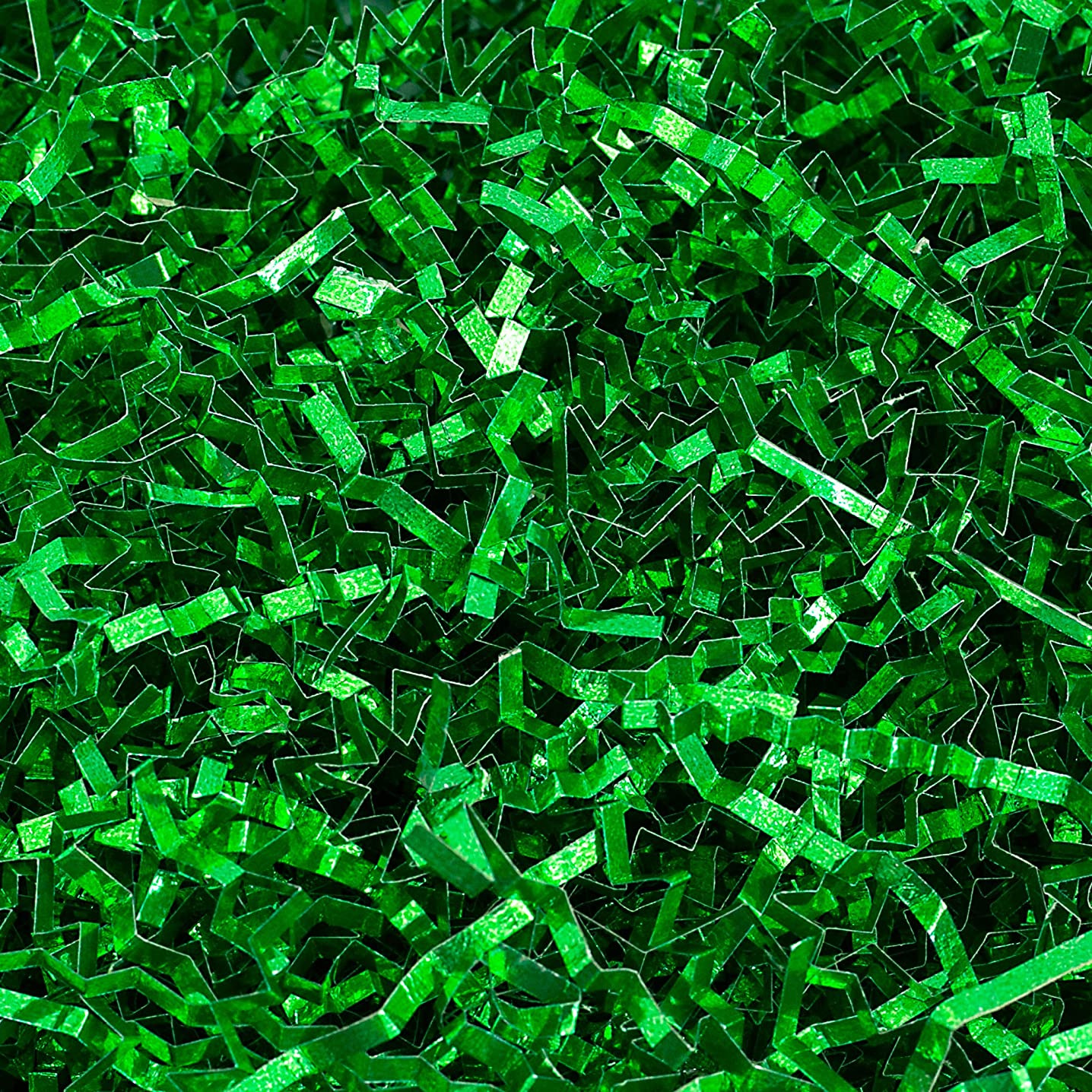 Crinkle Cut Paper Shred Filler (1/2 LB) for Gift Wrapping & Basket Filling - Green Metallic | MagicWater Supply