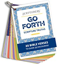 Scripture Memory and Devotional - Go Forth Encouraging Bible Verse Flash Cards (Graduation, Confirmation)