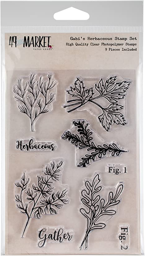 49 and Market Gabi's Herbaceous Clear Stamps 4