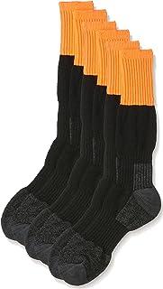 Rio Men's Reinforced Cushion Comfort Work Socks (3 Pack), Orange, 6-10