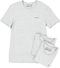 Columbia - 100% Cotton Crew T-Shirt 3-Pack