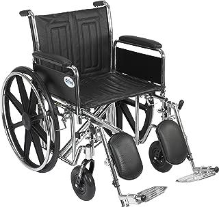 "Drive Medical Bariatric Sentra Ec Heavy-duty Wheelchair,detach Full Arm, Leg Rests,20"",1 Count"