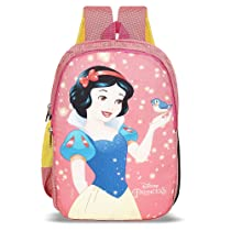 Priority Disney Snow White 20 litres Pink Polyester Kids School Bag | Casual Backpack